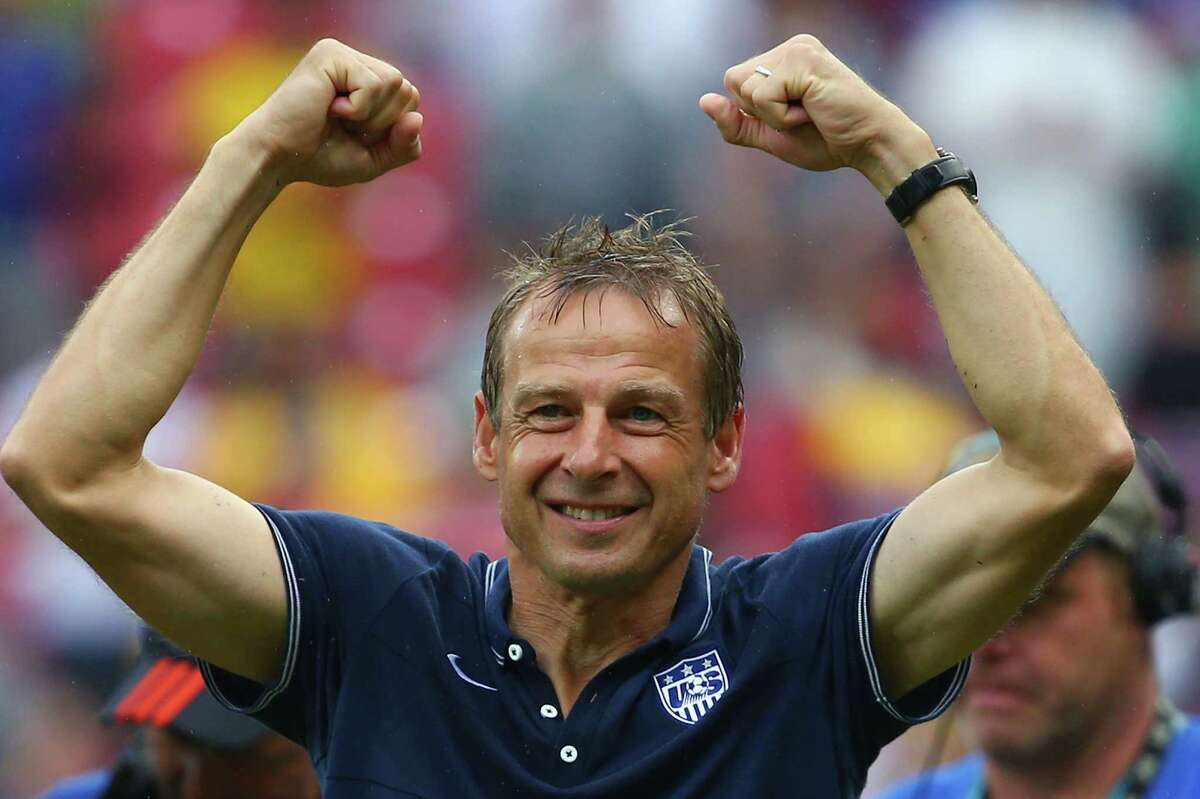 The U.S. is punching above its weight Klinsmann was hired in 2011 to take U.S. soccer to the next level; to oversee the development of the United States team into a world-class organization, with advancements both on and off the pitch.Most fans and observers knew that the true measure of success would come every four years at the World Cup, the biggest stage of them all. Qualifying simply wasn't good enough. Klinsmann had to lead the Americans to wins.Even then, most assumed it wouldn't happen in 2014, especially after Klinsmann signed an extension in December that will keep him as the head of the USMNT through 2018. The 2014 squad would play just well enough to be cannon fodder for the world's elite teams, pundits claimed. Then, watch out for the U.S. in 2018, when Klinsmann will have had four more years to develop the squad.Don't look now, but the Americans are ahead of schedule.The U.S. will advance out of the group stage for the second World Cup in a row for the first time in history, and if Klinsmann continues to move the program forward with the same momentum as his first few years, a new age of U.S. soccer could be dawning.
