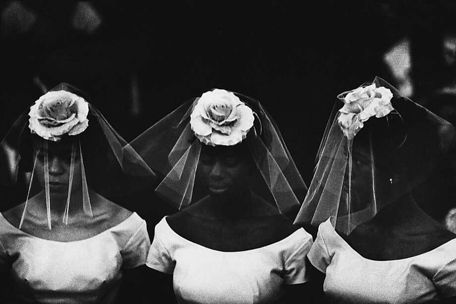 "Photographer Bruce Davidson's ""Time of Change, 1961-1965"" exhibition at the Koch Gallery includes the gelatin silver print ""Time of Change (Three Bridesmaids)"" (1962). Photo: Bruce Davidsom, Robert Koch Gallery, S.f."