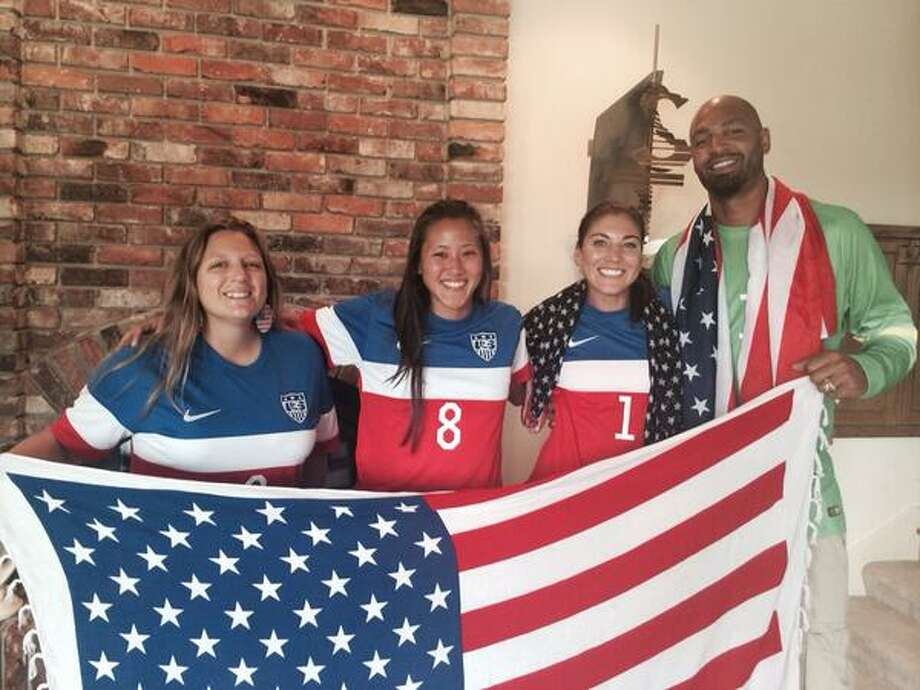 Hope Solo posted this photo of herself, second from right, with her 