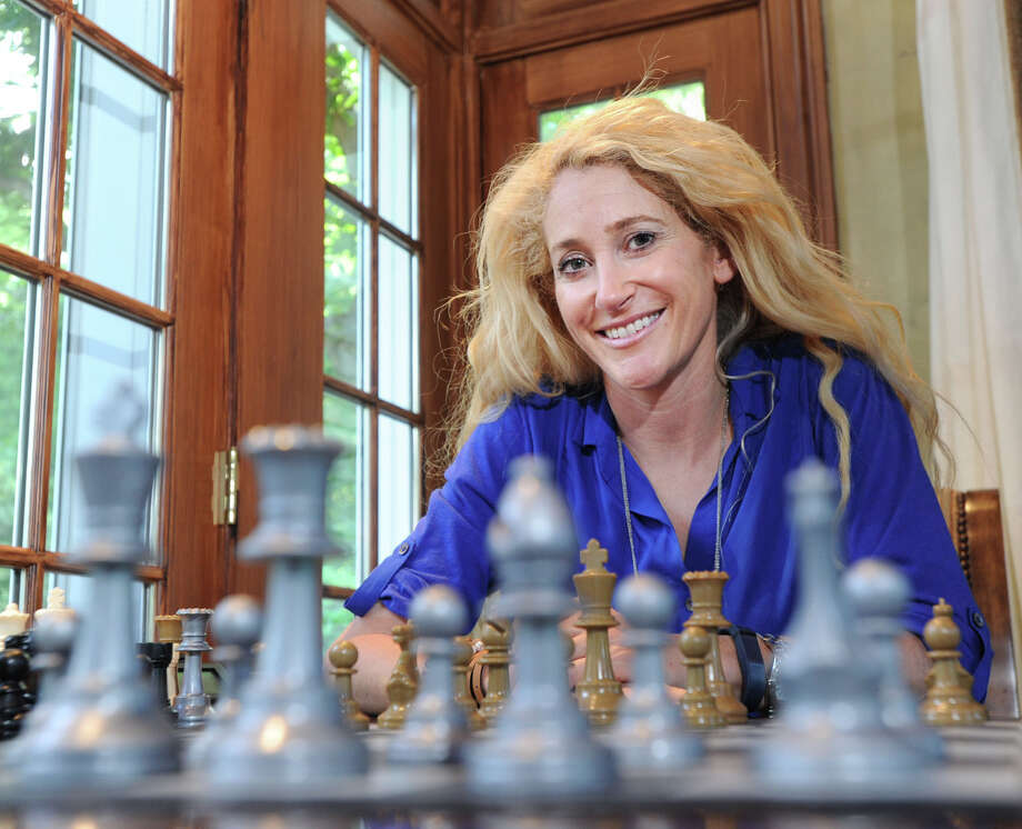 National Scholastic Chess Foundation board member, Betsy Korn, at her Greenwich home, Thursday, June 26, 2014. Photo: Bob Luckey / Greenwich Time