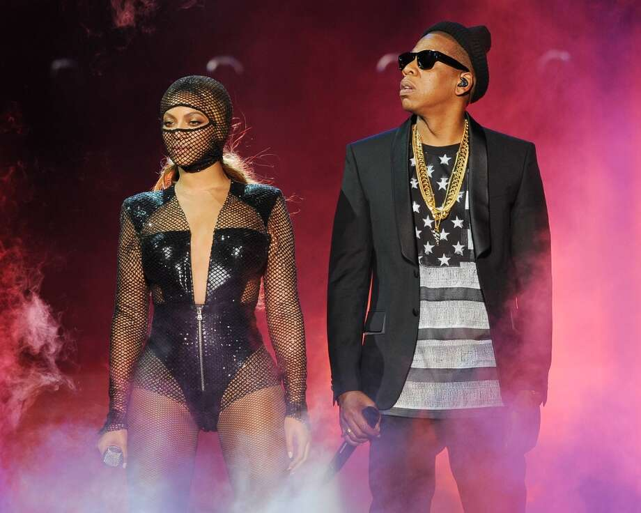Beyonce and JAY Z perform on the opening night of the On The Run Tour at Sun Life Stadium on Wednesday, June 25, 2014, in Miami, Florida. Photo: Jeff Daly, Associated Press