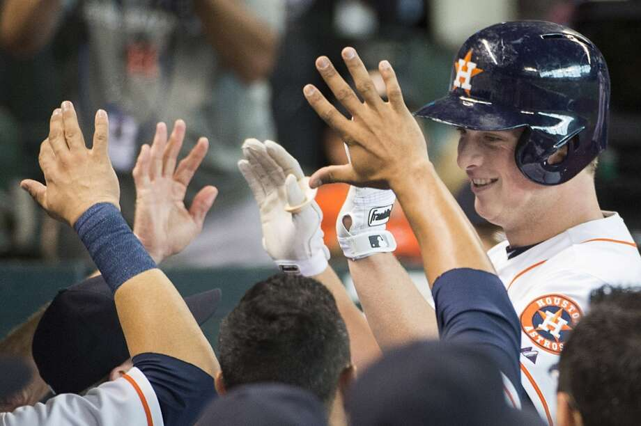June 26: Astros 6, Braves 1Matt Dominguez gave the Astros' offense a much-needed shot in the arm as he hit a three-run homer in the series finale.  Record: 34-46. Photo: Smiley N. Pool, Houston Chronicle