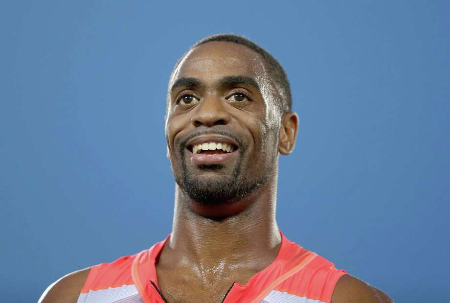 DES MOINES, IA - JUNE 21:  Tyson Gay smiles after winning the Mens' 100 Meter on day two of the 2013 USA Outdoor Track & Field Championships  at Drake Stadium on June 21, 2013 in Des Moines, Iowa.  (Photo by Andy Lyons/Getty Images) Photo: Andy Lyons / 2013 Getty Images