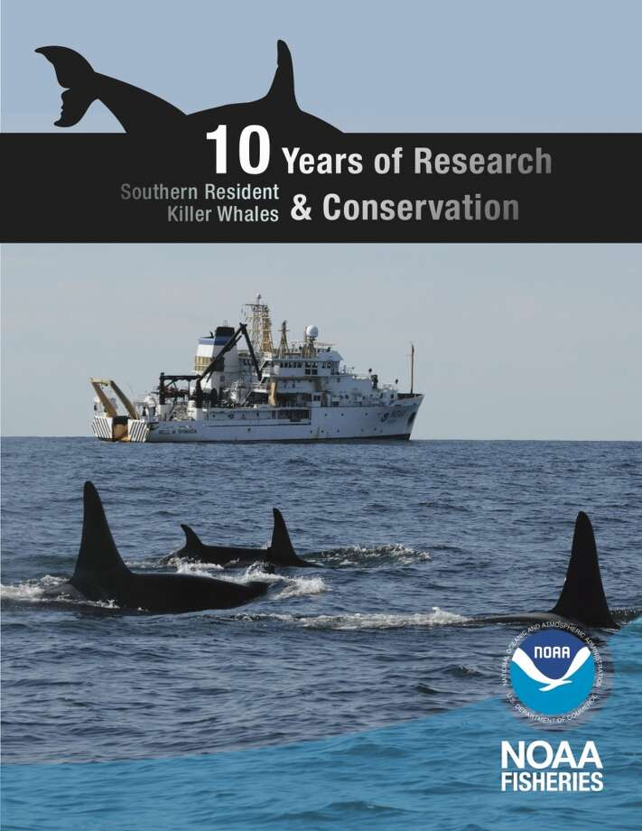 "This is the cover of NOAA's major new report on our ""Southern Resident Killer Whales"". All of the details in this gallery have been gleaned from the report. To read the complete report, go to this page (pdf)."