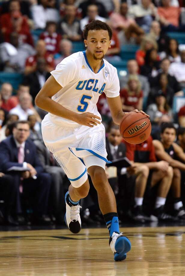 Kyle Anderson #5 of the UCLA Bruins brings the ball up the court against the Stanford Cardinal during a semifinal game of the Pac-12 Basketball Tournament at the MGM Grand Garden Arena on March 14, 2014 in Las Vegas, Nevada. UCLA won 84-59. Photo: Ethan Miller, Getty Images