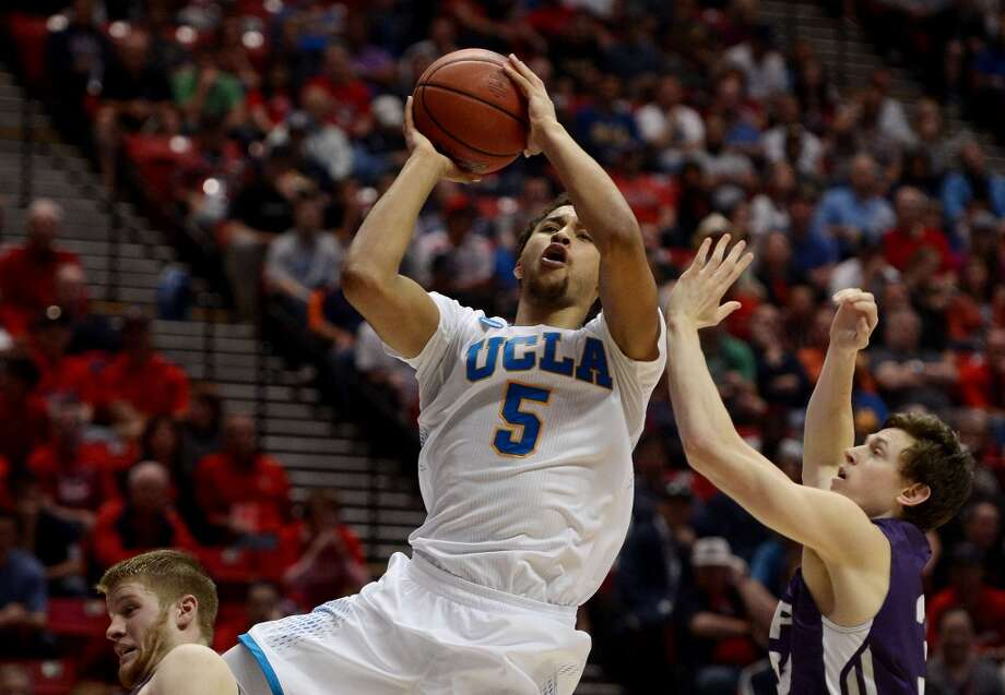 Kyle Anderson #5 of the UCLA Bruins goes up against the Stephen F. Austin Lumberjacks during the third round of the 2014 NCAA Men's Basketball Tournament at Viejas Arena on March 23, 2014 in San Diego, California. Photo: Donald Miralle, Getty Images