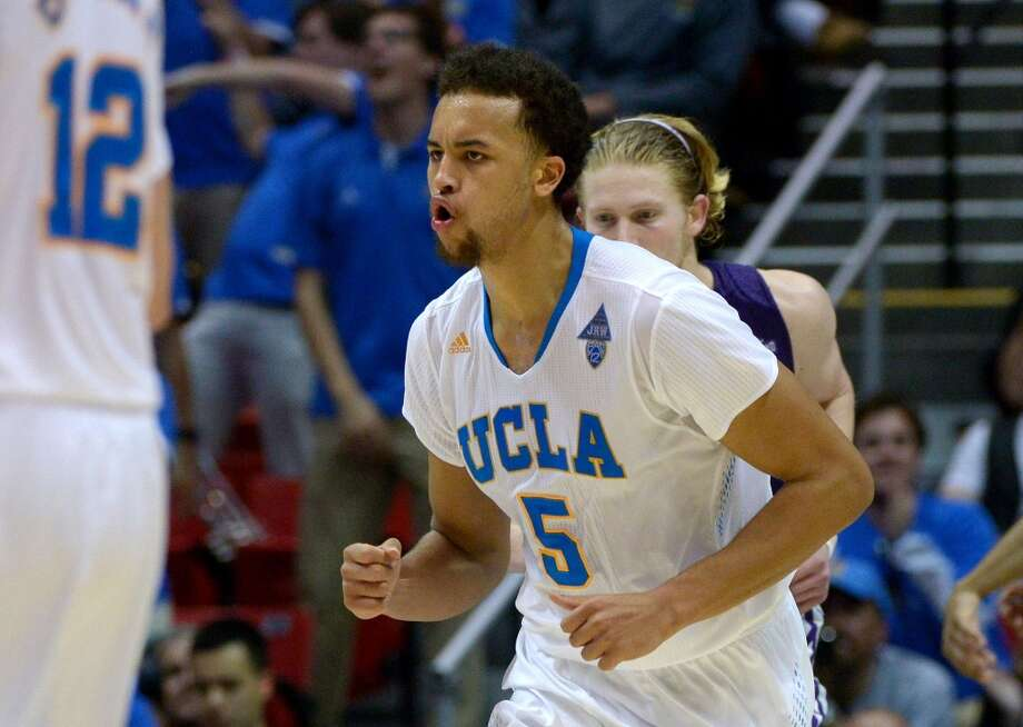 Kyle Anderson #5 of the UCLA Bruins reacts in the second half against the Stephen F. Austin Lumberjacks during the third round of the 2014 NCAA Men's Basketball Tournament at Viejas Arena on March 23, 2014 in San Diego, California. Photo: Donald Miralle, Getty Images