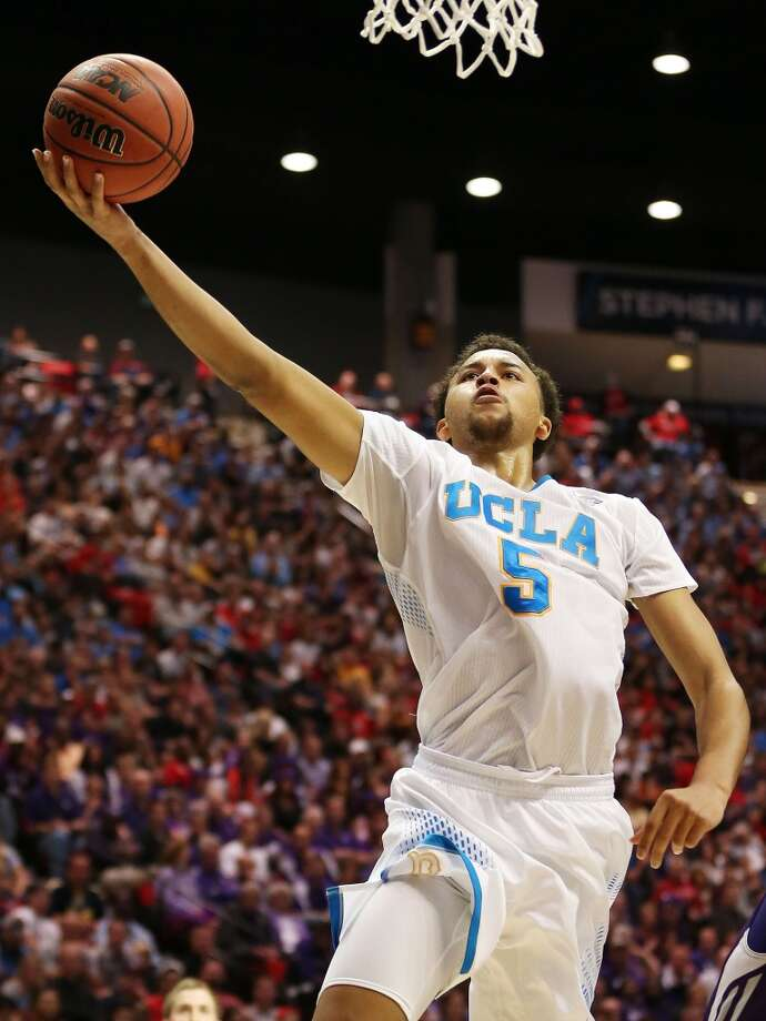 Kyle Anderson #5 of the UCLA Bruins shoots against the Stephen F. Austin Lumberjacks in the second half during the third round of the 2014 NCAA Men's Basketball Tournament at Viejas Arena on March 23, 2014 in San Diego, California. Photo: Jeff Gross, Getty Images