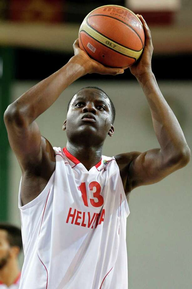 Clint Capela of Switzerland expressed a desire to play in the NBA immediately, but the Rockets likely want him to play overseas and continue developing. Photo: Salvatore Di Nolfi, SUB / KEYSTONE
