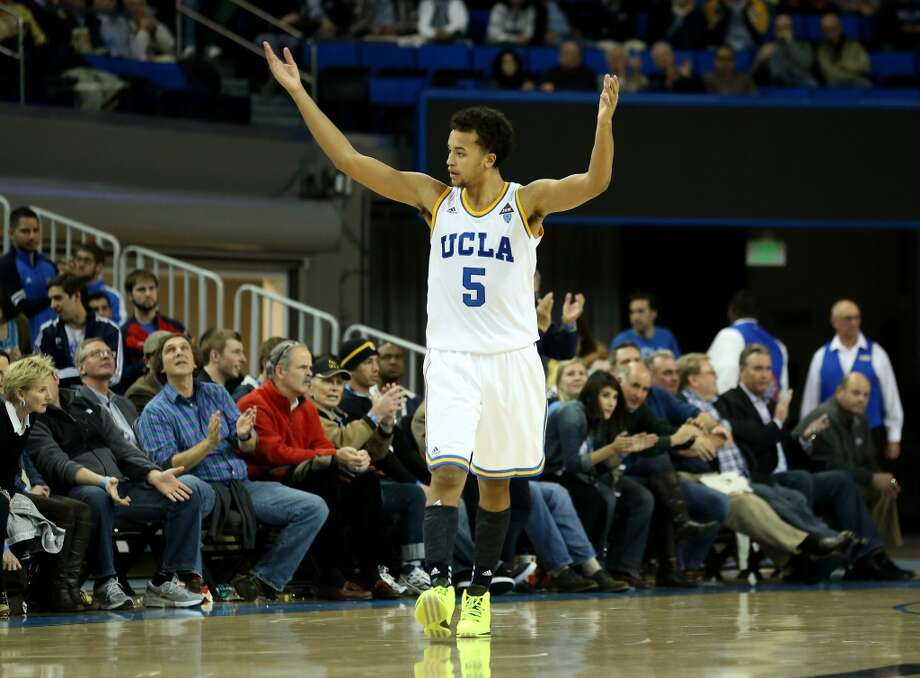 Kyle Anderson #5 of the UCLA Bruins celebrates during the second half against the Long Beach State 49ers at Pauley Pavilion on December 18, 2012 in Los Angeles, California.  UCLA won 89-70. Photo: Stephen Dunn, Getty Images