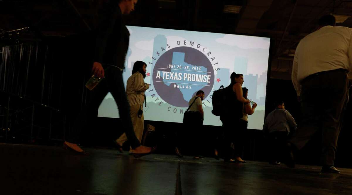 The Dallas Convention Center is hosting the Texas Democratic Convention through Saturday, with as many as 8,000 delegates and alternates expected.