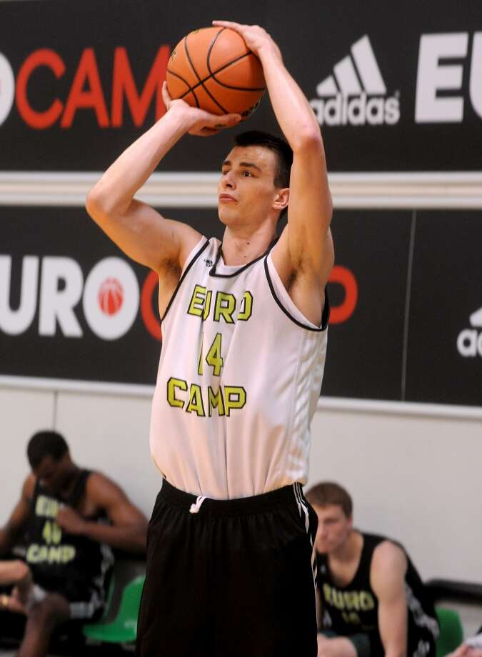Nemanja Dangubic in action during adidas Eurocamp day two at La Ghirada sports center on June 8, 2014 in Treviso, Italy. Photo: Roberto Serra/Iguana Press, Getty Images