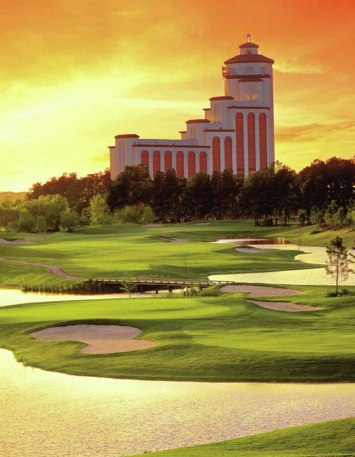 L'Auberge du Lac Casino and Resort, with the casino's golf course in the foreground. Photo courtesy of L'Auberge Photo: Photo Courtesy Of L'Auberge / Beaumont