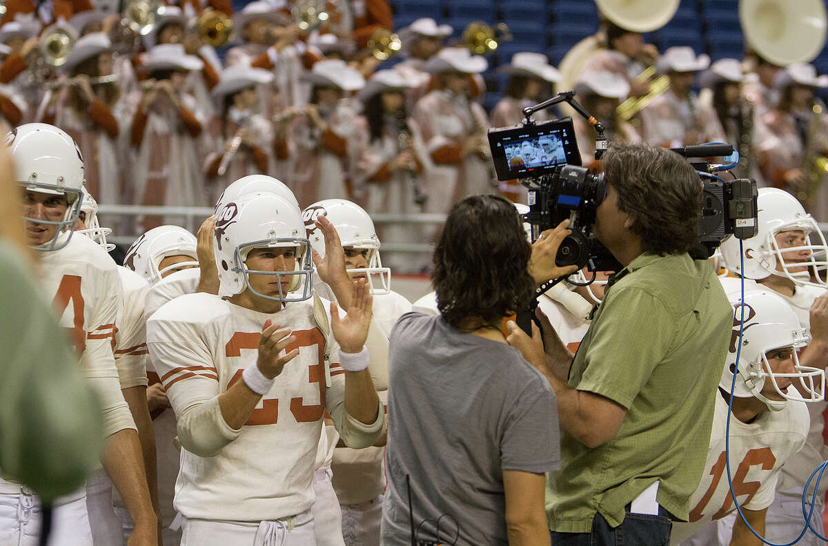 Filming a scene from My All American at the Alamodome, Thursday, June 26, 2014 about former University of Texas football player Freddie Steinmark.
