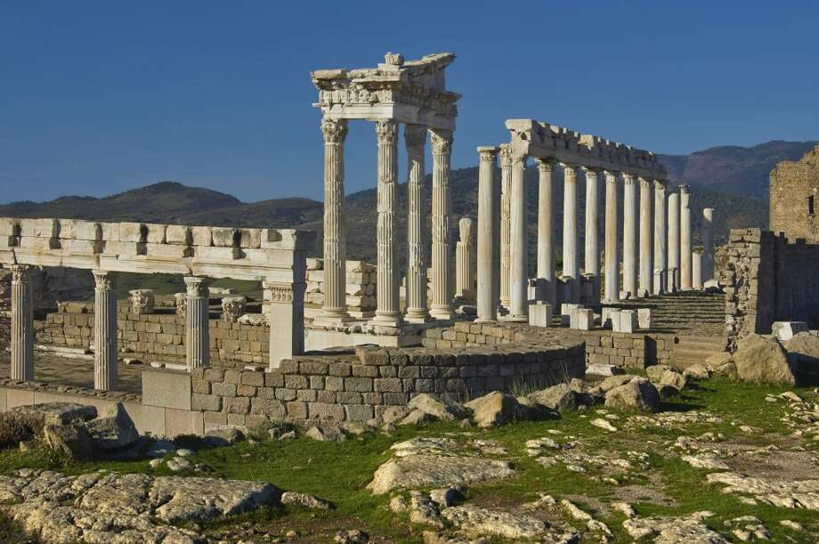 "Turkey:The ancient city of Pergamon  near modern-day Bergama was a center of  Hellenist learning and capital of the Roman province of Asia. Its ""multi-layered cultural  landscape,"" noted by UNESCO, includes remains from the Roman, Byzantine and Ottoman empires. Photo: Ayhan Altun, Getty Images/Gallo Images"