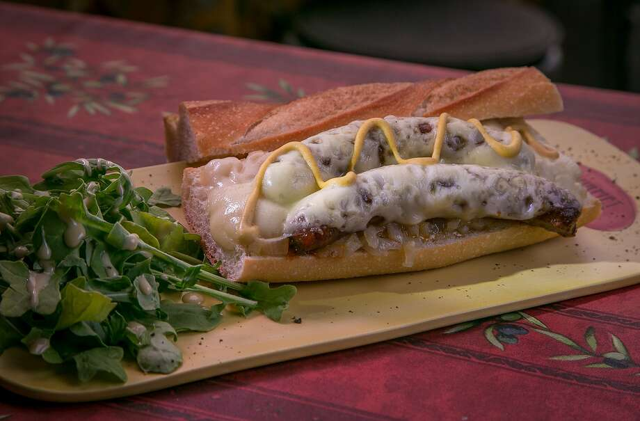 The Tunisian tartine sandwich is one of the favorites at Gourmet & More in San Francisco, where there are a few small tables on the patio. Photo: John Storey, Special To The Chronicle