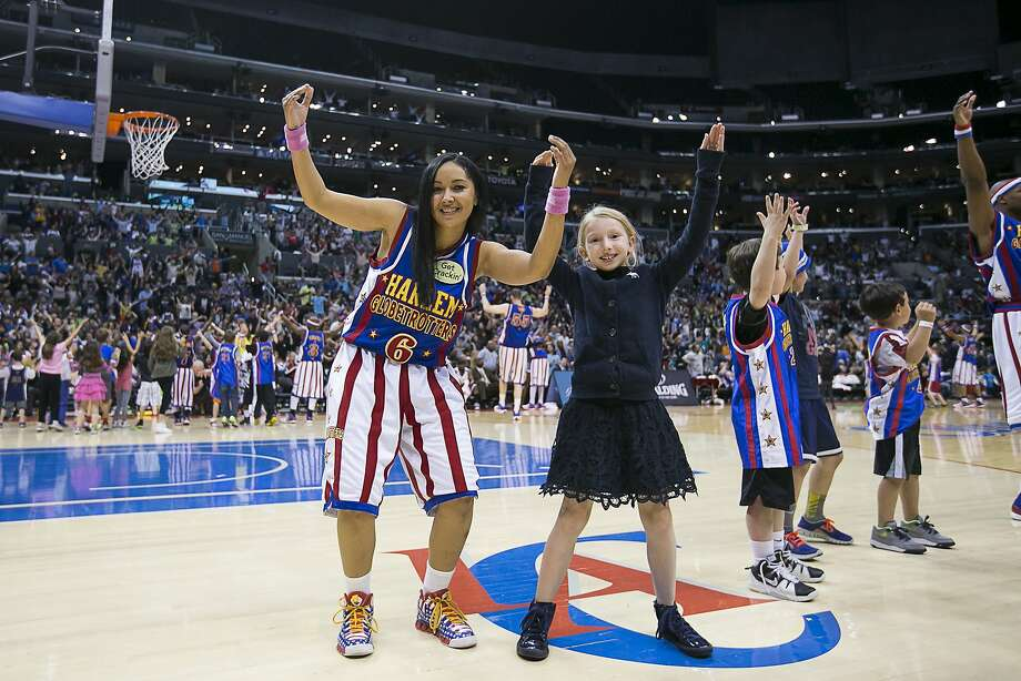 "Oakland native Tammy ""T-Time"" Brawner and her teammates will run the local Globetrotters' clinics. Photo: Courtesy Of The Harlem Globetrot"