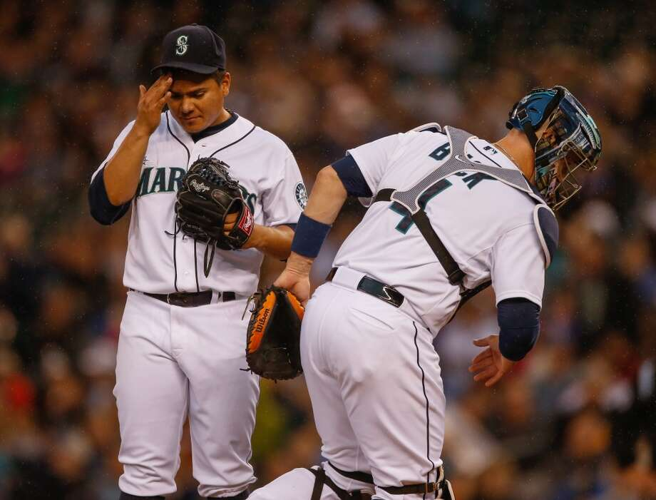 Erasmo Ramirez, starting pitcher  Grade: D+  2014 stats: 11 games, 1-4 record, 4.58 ERA, 42 strikeouts, 29 walks, 27 earned runs  Ramirez has bounced between Tacoma and Seattle this season, filling in at the No. 5 spot of Seattle's rotation as the team waits for injured players to   return. He has shown flashes of greatness, but his command issues resulted in another demotion this past week. Photo: Otto Greule Jr, Getty Images