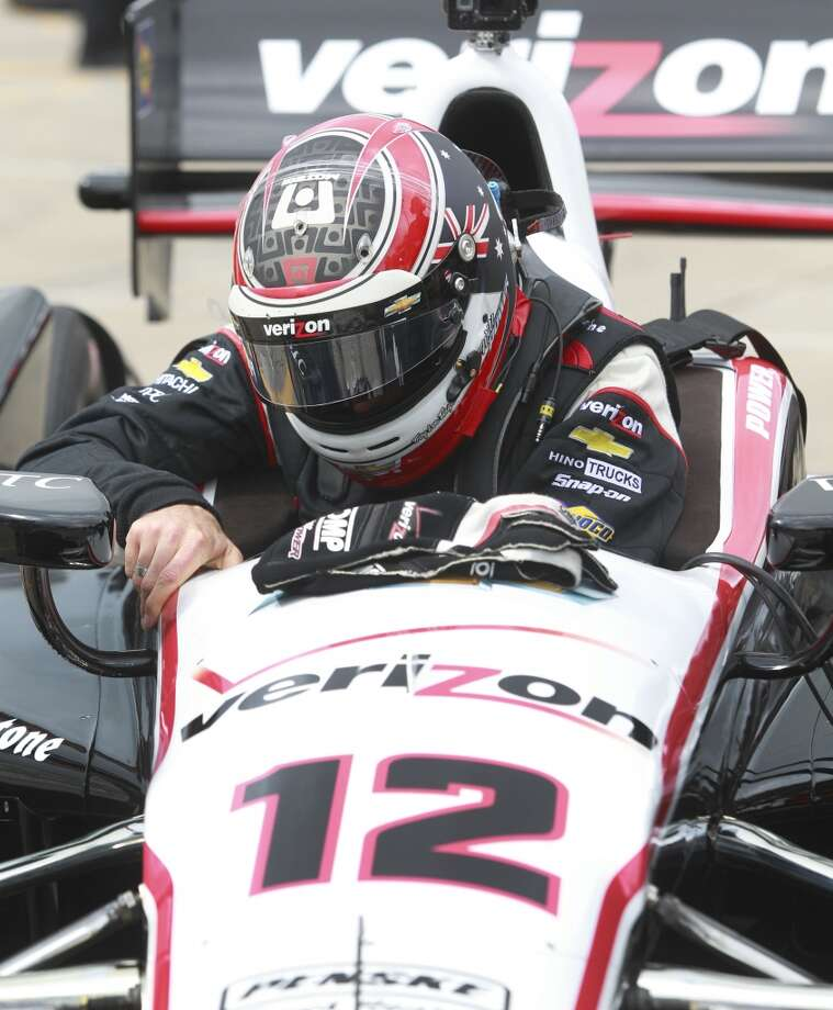 IndyCar driver Will Power prepares during an IndyCar practice session for the Grand Prix of Houston at NRG Park Friday, June 27, 2014, in Houston. ( Melissa Phillip / Houston Chronicle ) Photo: Melissa Phillip, Houston Chronicle
