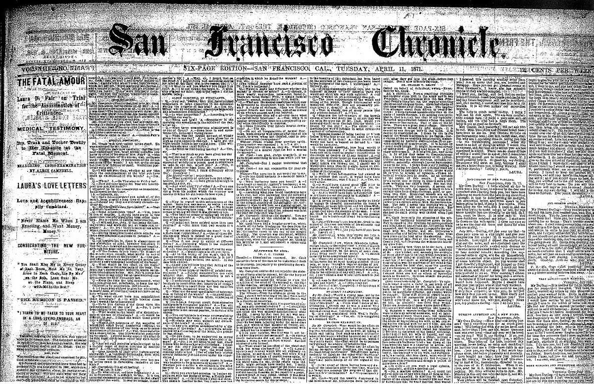 Chronicle page from Tuesday, April 11, 1871.