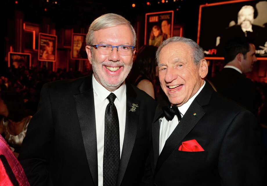 HOLLYWOOD, CA - JUNE 05:  Writer Leonard Maltin (L) and director Mel Brooks attend the 2014 AFI Life Achievement Award: A Tribute to Jane Fonda at the Dolby Theatre on June 5, 2014 in Hollywood, California. Tribute show airing Saturday, June 14, 2014 at 9pm ET/PT on TNT.  (Photo by Frazer Harrison/Getty Images for AFI) Photo: Frazer Harrison, Staff / 2014 Getty Images