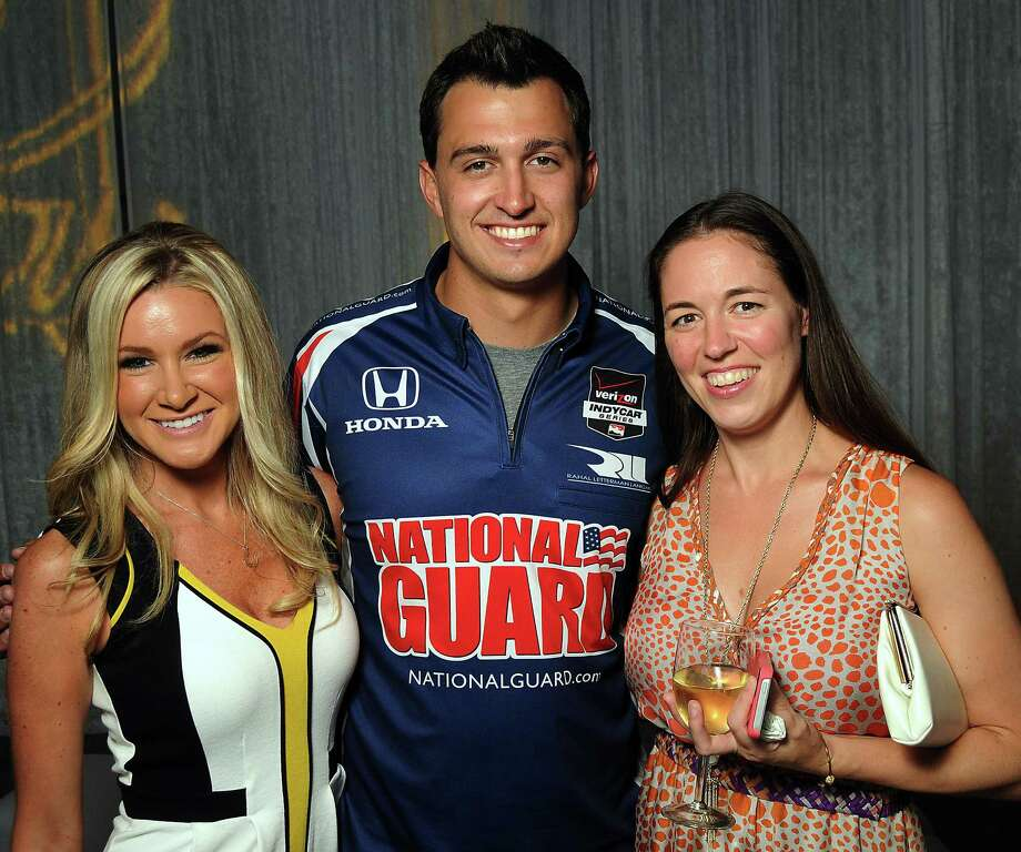 Angela Anderson, left, Graham Rahal and Natalie Crossley Photo: Dave Rossman, Freelance / © 2014 Dave Rossman