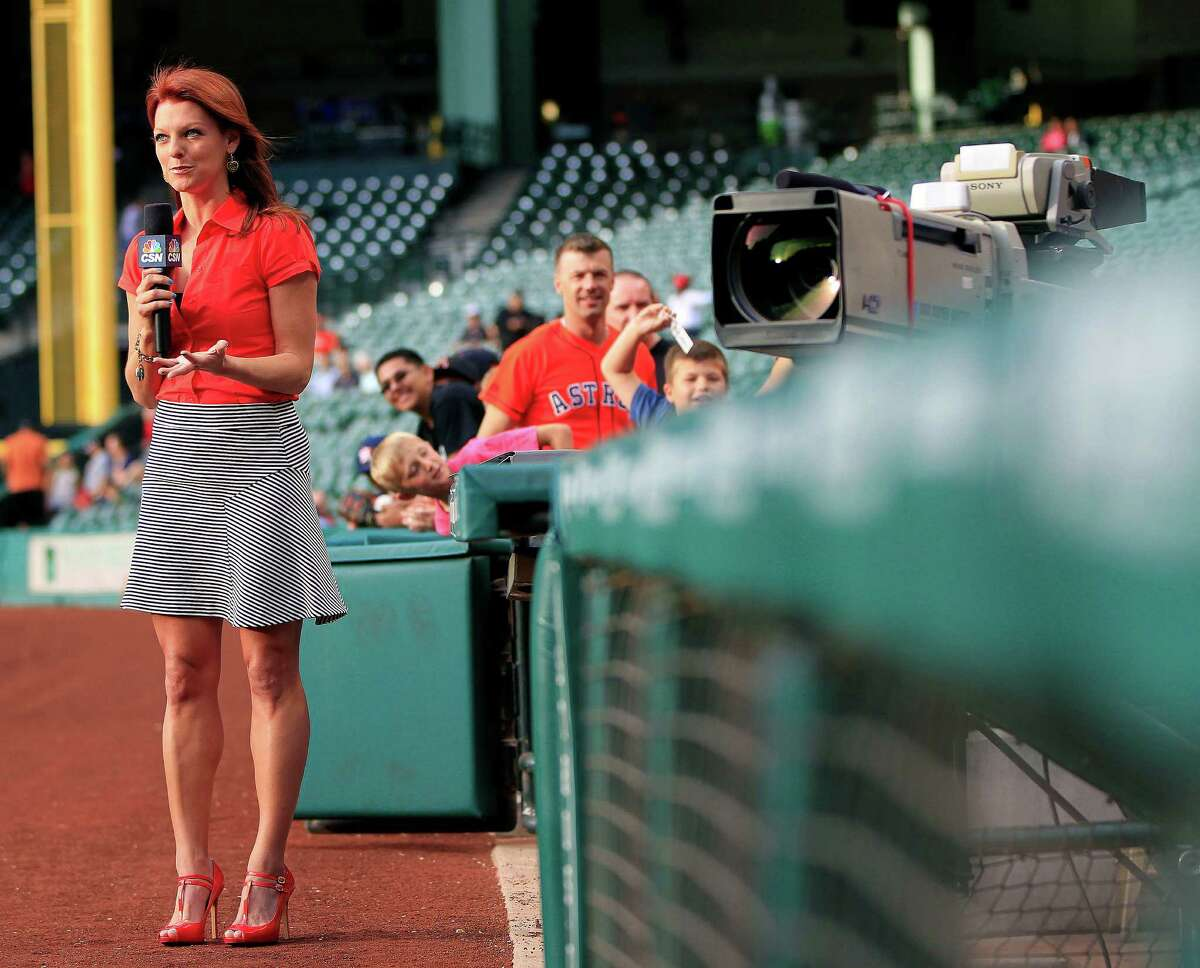 PHOTOS: Things to know about Astros sideline reporter Julia Morales After seven years on Astros broadcasts, Julia Morales feels like part of the family for Astros fans, but there's so much that people don't know about her. Browse through the photos to get to know more about Astros' sideline reporter Julia Morales.