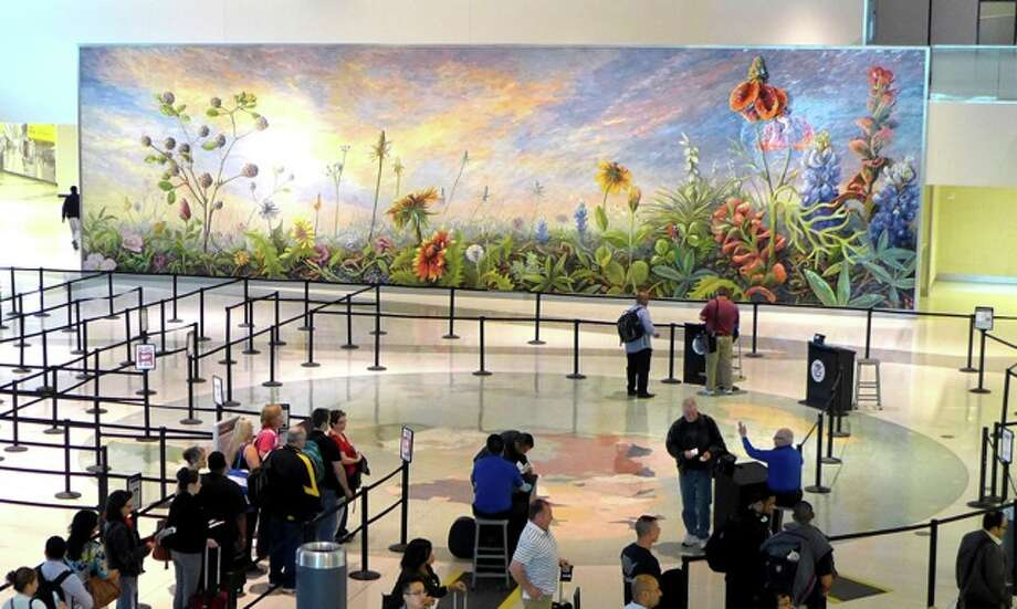 A monumental mosaic mural at a Dallas airport by Houston artist Dixie Friend Gay has been recognized as one of the best public art projects in North America, by the Public Art Network of Americans for the Arts. Photo: Dixie Friend Gay / ONLINE_YES