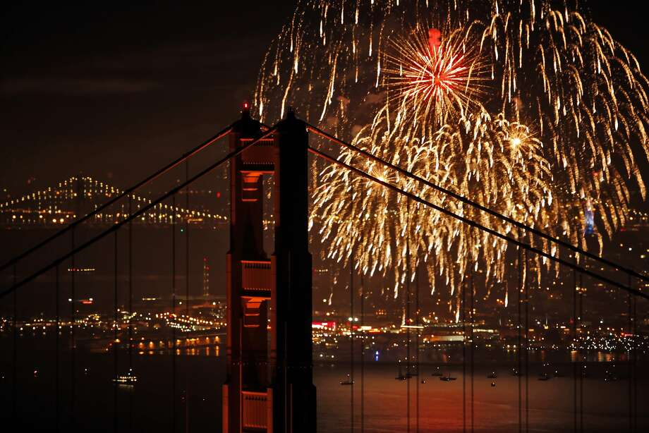 July 4: Celebrate Independence Day all around the Bay Area. If there's no fog, the fireworks might look like this. Check out events here.  Photo: Carlos Avila Gonzalez, The Chronicle