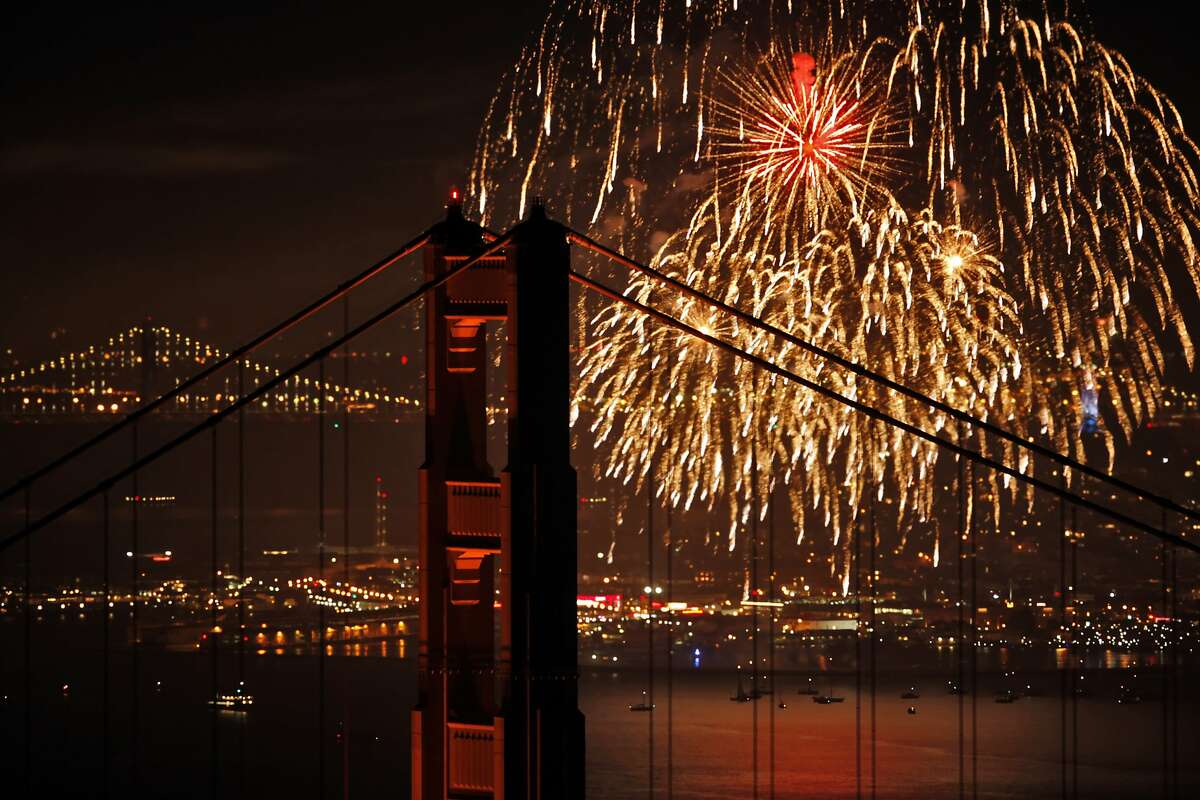 July 4: Celebrate Independence Day all around the Bay Area. If there's no fog, the fireworks might look like this. Check out events here.