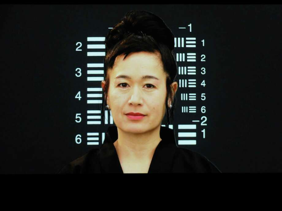 "A still from Hito Steyerl's single channel HD video ""How Not to be Seen"" (2013), on view at the Station Museum of Contemporary Art through Aug. 17 in the exhibition ""Collective Reaction."" Photo: Molly Glentzer"