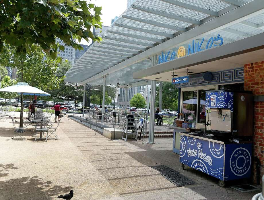 Niko Niko's already expanded from Montrose to this location in downtown's Market Square Park. Photo: Karen Warren, Staff / © 2014 Houston Chronicle