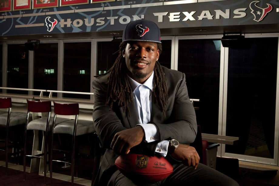 Jadeveon Clowney, the Houston Texans No. 1 draft pick, poses for a portrait at Reliant Stadium Friday, May 9, 2014, in Houston. ( Brett Coomer / Houston Chronicle ) Photo: Brett Coomer, Staff / © 2014 Houston Chronicle
