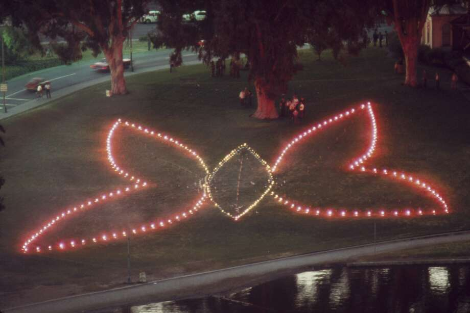 """""""Judy Chicago: A Butterfly for Oakland"""" Photo: Oakland Museum Of California, Courtesy Of The Artist And Paul"""