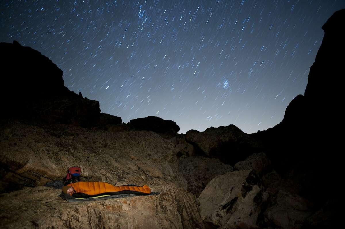 Camping under the stars in a bivvy bag Bivy