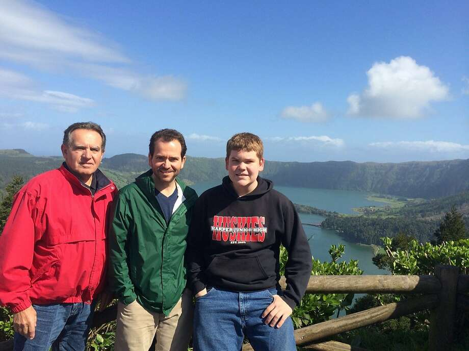 Joe, Ryan and Will Bezerra at Sao Roque do Pico, Azores. Photo: Courtesy Ryan Bezerra