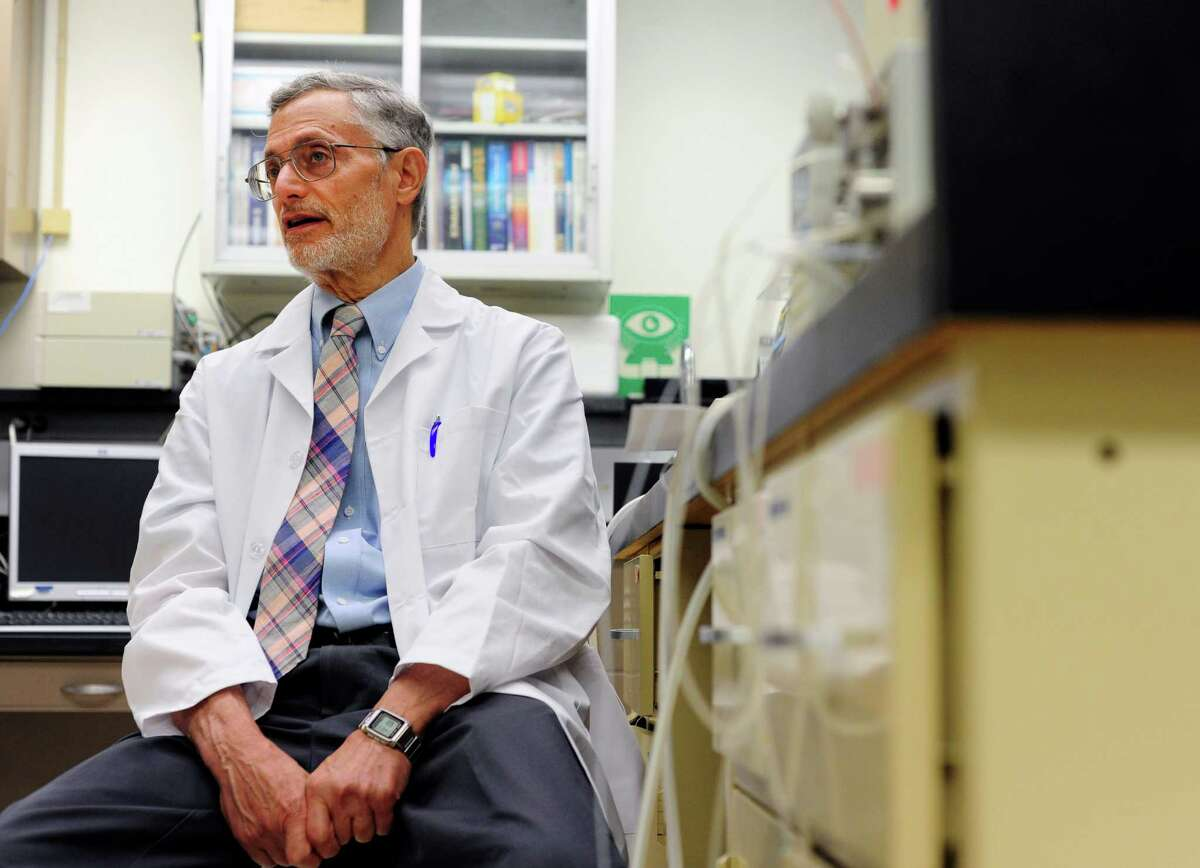 Dr. Stanley Glick talks about a drug he has been developing that can combat addiction, during an interview at his lab at Albany Med. on Thursday, June 26, 2014, in Albany, N.Y. (Paul Buckowski / Times Union)