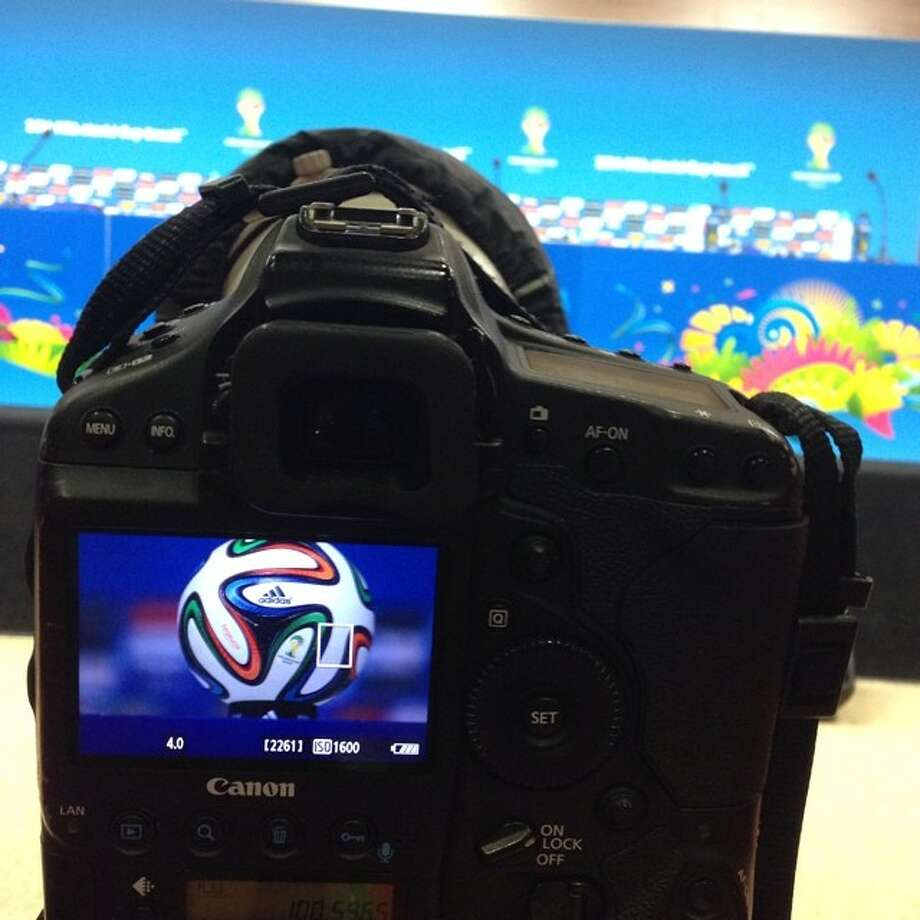 Waiting on USA press conference a day before the team faces Germany in Group G showdown in Recife, Brazil. Photo: Julio Cortez, Associated Press / AP