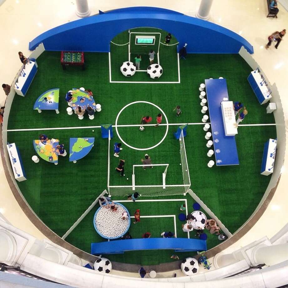 Field of dreams. A pitch everywhere you look. Mall in Sao Paulo. Photo: Julio Cortez, Associated Press / AP