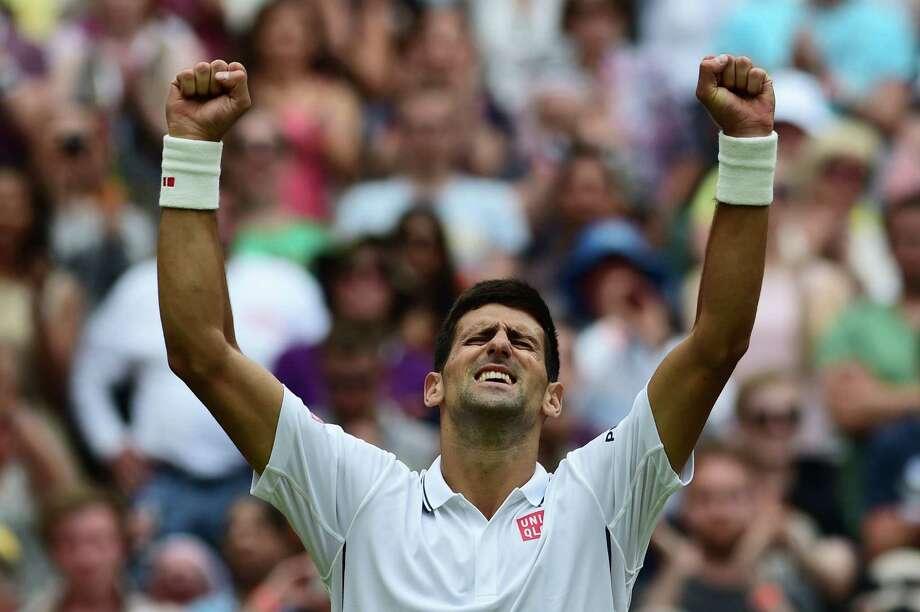#43 Novak Djokovic(May 22, 1987) Photo: CARL COURT / AFP