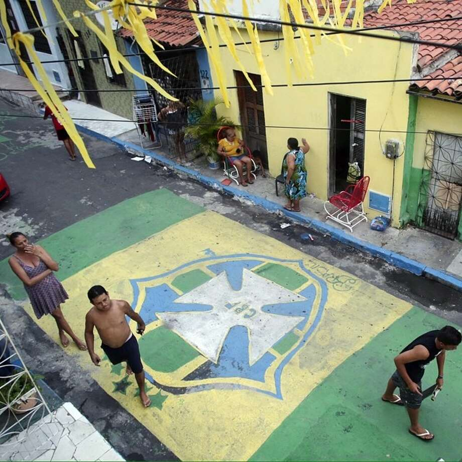 Street scene in Fortaleza, Brazil on Monday, June 16th. Brazil faces Mexico tomorrow in Fortaleza. Photo: Marcio Jose Sanchez, Associated Press / AP