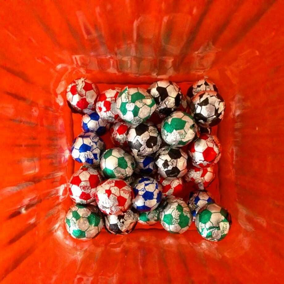 Soccer chocolate balls in Fortaleza, Brazil.  Photo: Bernat Armangue, Associated Press / AP