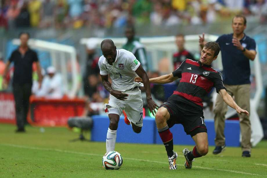 Against Germany, DaMarcus Beasley, left, and his U.S. teammates had possession 37 percent of the game, a statistic that helps explain their 1-0 loss to the Germans. Photo: Michael Steele, Staff / 2014 Getty Images