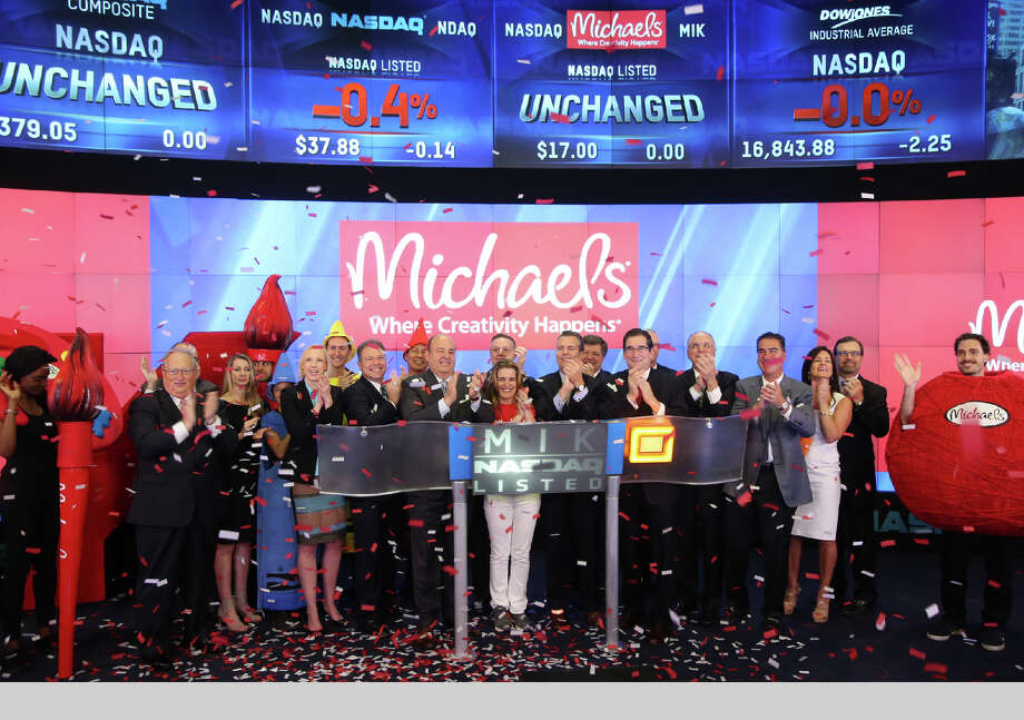 Michaels, a Texas-based arts and crafts chain, raised  $472 million from its initial public offering Friday. Photo: The NASDAQ OMX Group, Inc. / The NASDAQ OMX Group, Inc.