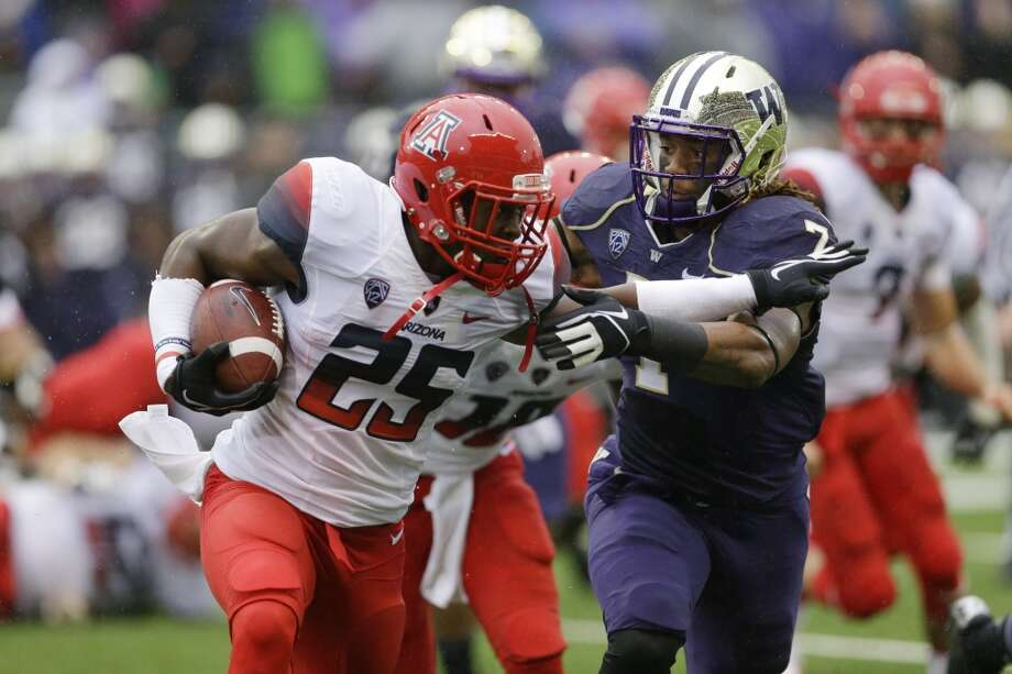 "Shaq Thompson | Linebacker | Junior What Rang says: ""Thompson's athleticism and instincts will stand out regardless of his collegiate position … If he makes the strides expected this season, Thompson could wind up the highest drafted linebacker from Washington since the Bengals selected Joe Kelly 11th overall in 1986."" Photo: Ted S. Warren, Associated Press"