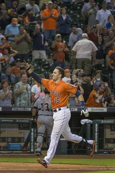 June 27: Astros 4, Tigers 3  Jason Castro delivered a walkoff homer - the first of his career - to lift the Astros past the Tigers in the 11th inning.  Record: 35-46. Photo: Smiley N. Pool, Houston Chronicle