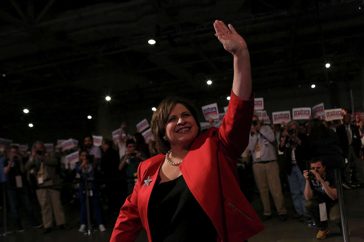 State Senator and candidate for Lt. Governor Leticia Van de Putte walks to the stage for her speech during the Texas Democratic State Convention at the Dallas Convention Center in Dallas on Friday, June 27, 2014.