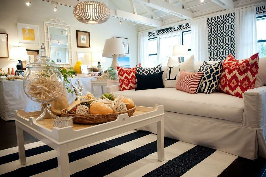 Top: Lisa Benbow's Garnish Home, just one of several boutiques and shops to be found on a shopping tour of Tiburon, which has attracted Bay Area artists and designers to its walkable Ark Row. Photo: Garnish