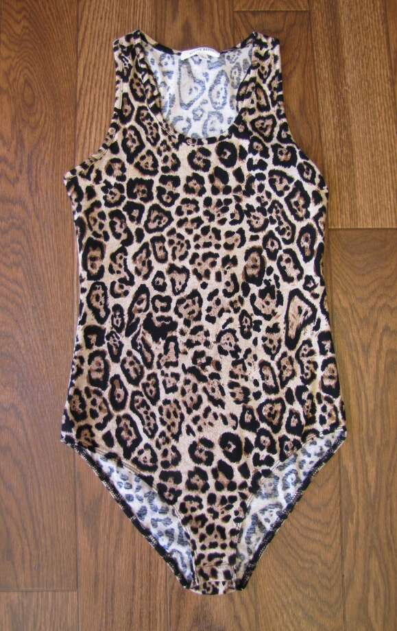 Leopard-print bodysuit, $21.99.  Sparkle and Charm, Beaumont Photo: Larena Head/cat5