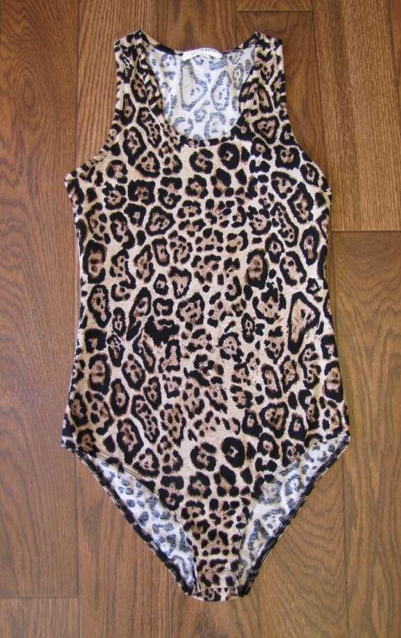 Leopard-print bodysuit, $21.99.  Sparkle and Charm, Beaumont Photo: Larena Head/cat5